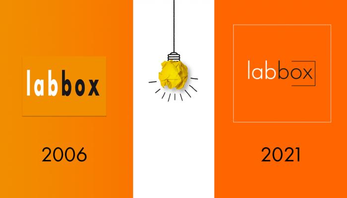 Transición Logo Labbox 2006 - 2021